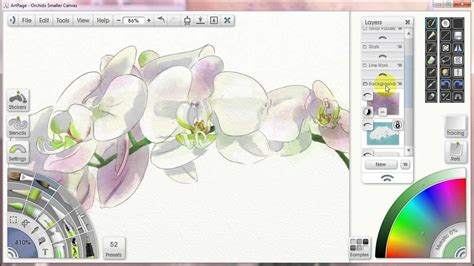How to Paint with Watercolors in Artrage #6- Layer Masks