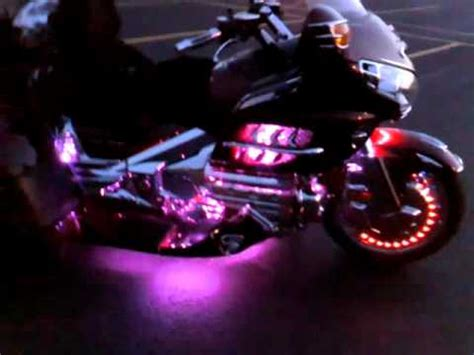 Boogey Lights on Gold Wing Trike - YouTube