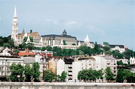 An overview of Budapest's castle area with The Church of