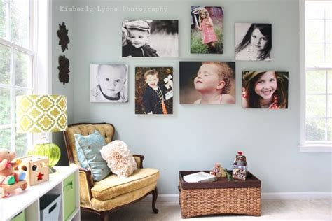 mixing black and white and color photos | Wall collage