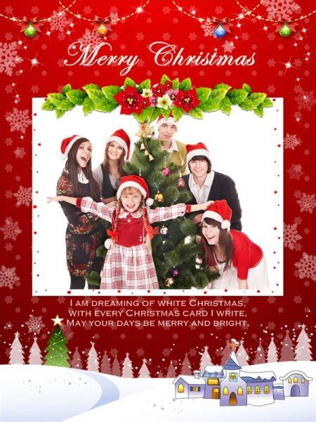 Christmas Collage / Card Add-on Templates - Download Free