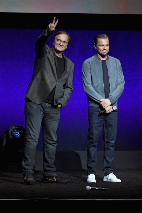 Leonardo DiCaprio cleans up for CinemaCon with Quentin